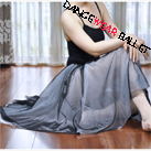 Dancewear Ballet Dress Seamless Stretched Mixed Color Mesh Long Skirt