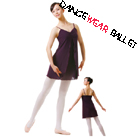Dancewear Ballet Lyrical Two Layers Fitness Dress Chiffon Dance Skirt With Camisole Top