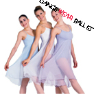 Dancewear Ballet Lyrical Fitness Long Dress Chiffon Dance Long Skirt With Camisole Top