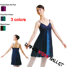 Dancewear Ballet Lyrical Fitness 3 Colors Long Dress Chiffon Dance Long Skirt With Camisole Top