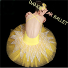 Sexy Open Back Lace Performance Dance Ballet Tutu Costume