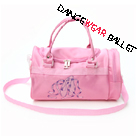 Dance Ballet Handbags With Pointe Shoe Embroidery