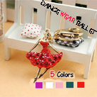 Five Colors Dance Ballet Ballerina Girl Key Ring
