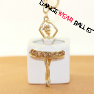 Chinaware Dance Ballet Ballerina Girl Key Ring
