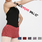 Dancewear Ballet Colorful Multi Striped Knitted Warm-up Shorts