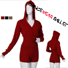 Adult Dancewear Ballet Knitwear Warm-up Suit Hoodie And Shorts