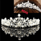 Ballet Hair Accessory Pearl Rhinestone Lotus Tiara With Comb