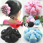 Children Colorful Ballet Hair Accessory Bun Cover With Sequins