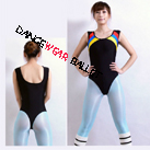Tank Contrast Color Strap Gymnastic Leotard
