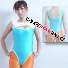 Tank Split Color Open Chest Gymnastic Leotard