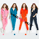 Eight Colors Zipper Pocket Velour Tracksuit Hoodie Sports Wear