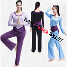 Contrast Color Three Pieces Asymmetric Drawstring Top Yoga Clothing