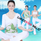 Four Pieces Printed Flower Yoga Clothing Bra Camisole Crop Top And Pants