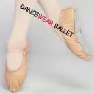 Cow Leather Full Straight Sole Dancewear Ballet Shoes Ballet Slipper