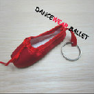 Dancewear Ballet Pointe Shoes Key Ring Pink